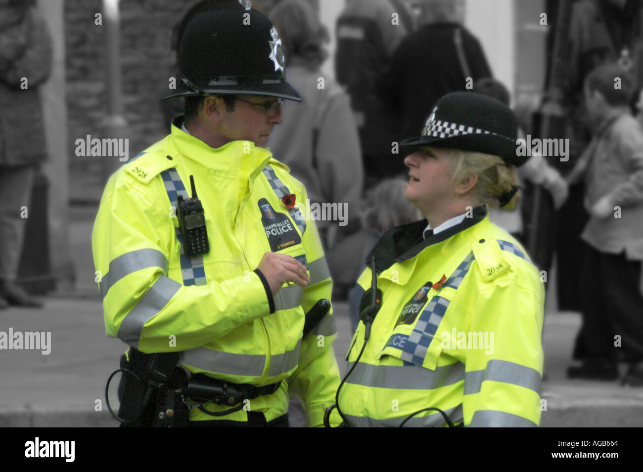 Thames Valley Police officers on duty - Stock Image