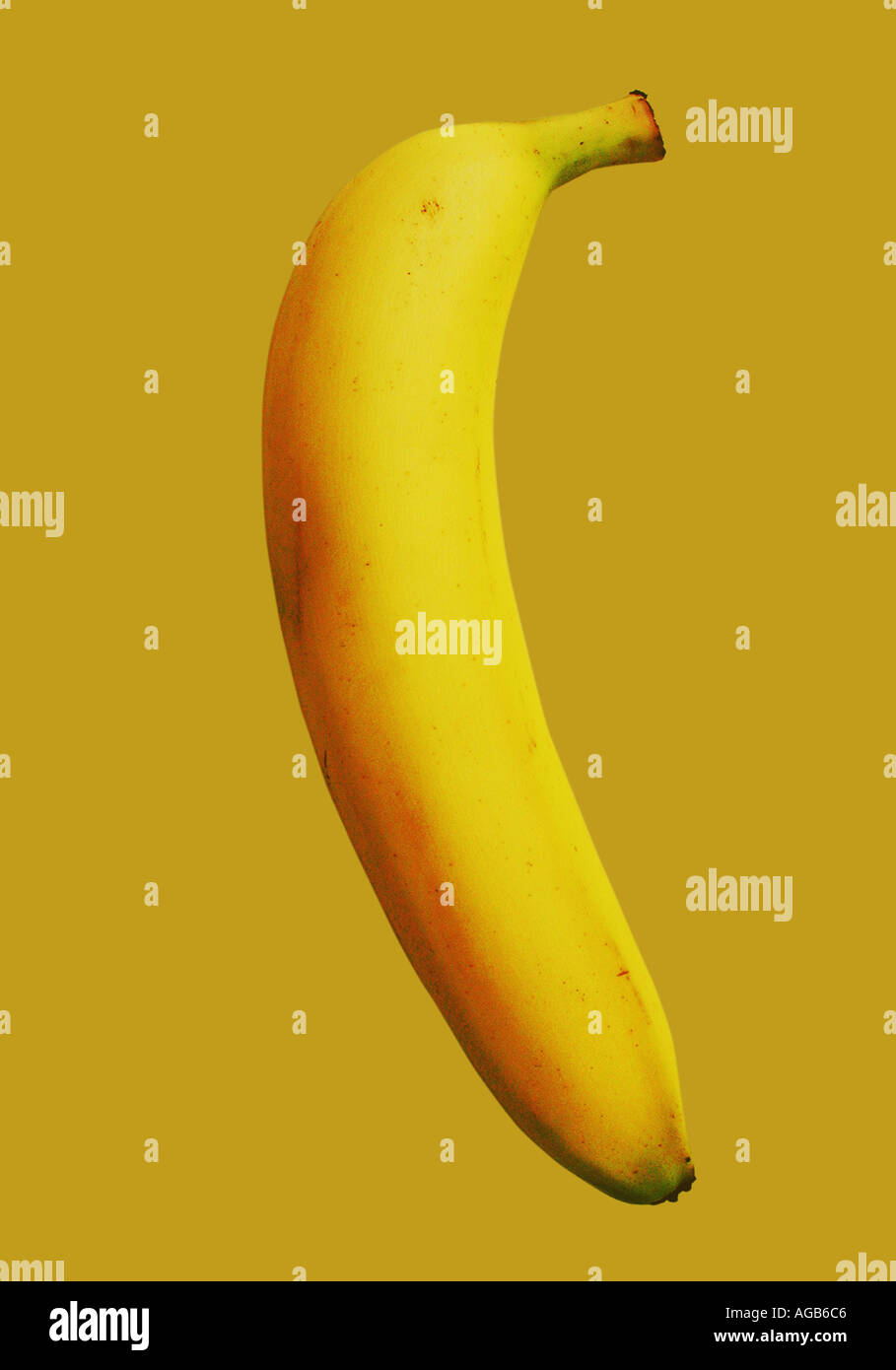 Contemporary singular banana image - Stock Image