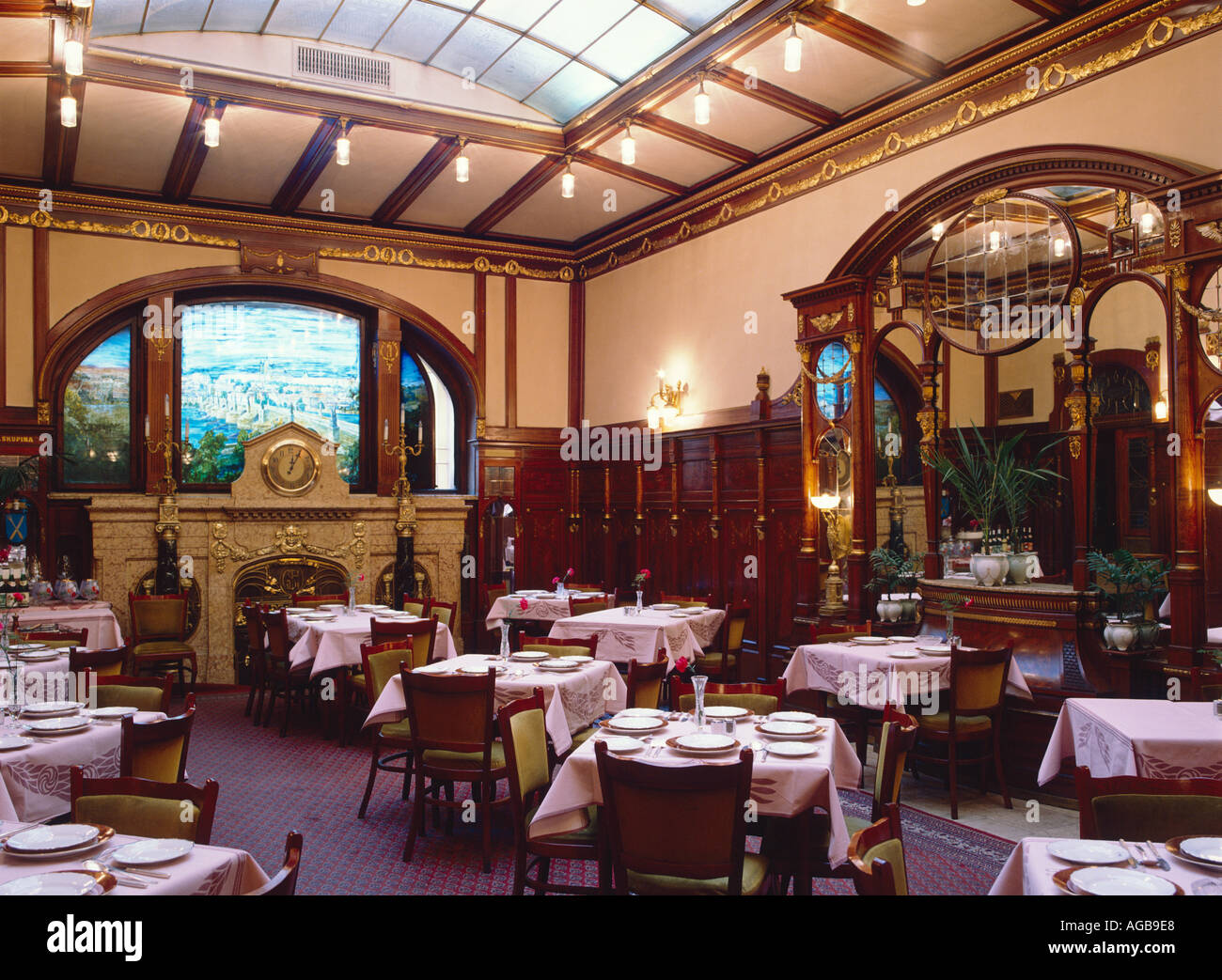 prague the grand hotel europa 1903 6 with its spectacular art nouveau stock photo 1096167 alamy. Black Bedroom Furniture Sets. Home Design Ideas