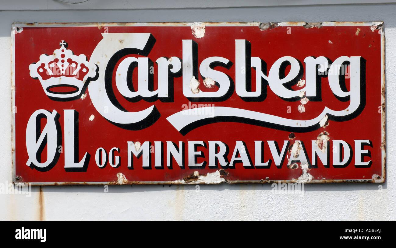 Fano old carlsberg sign - Stock Image