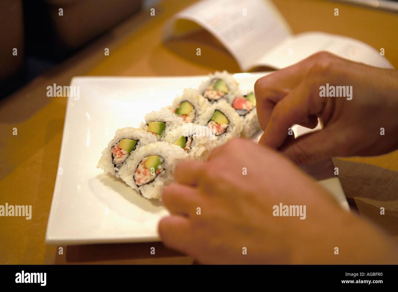 Preparing Sushi At Ra Sushi Restaurant Las Vegas Nevada