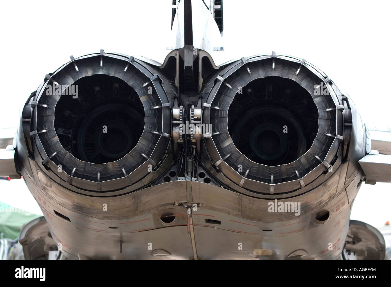 Tornado military jet close up detail of the exhaust system Stock Photo