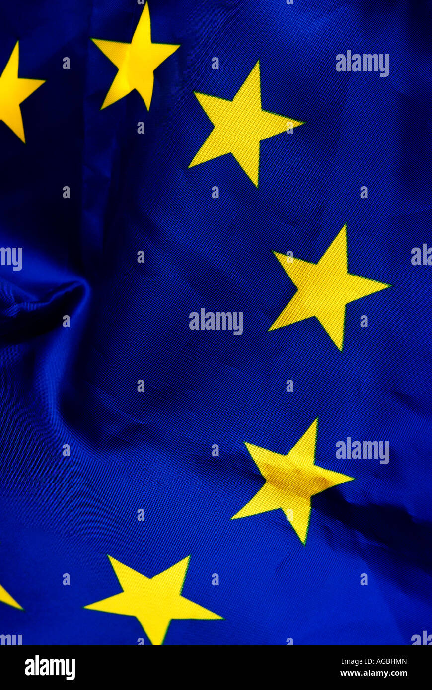 European Union flag close up - Stock Image