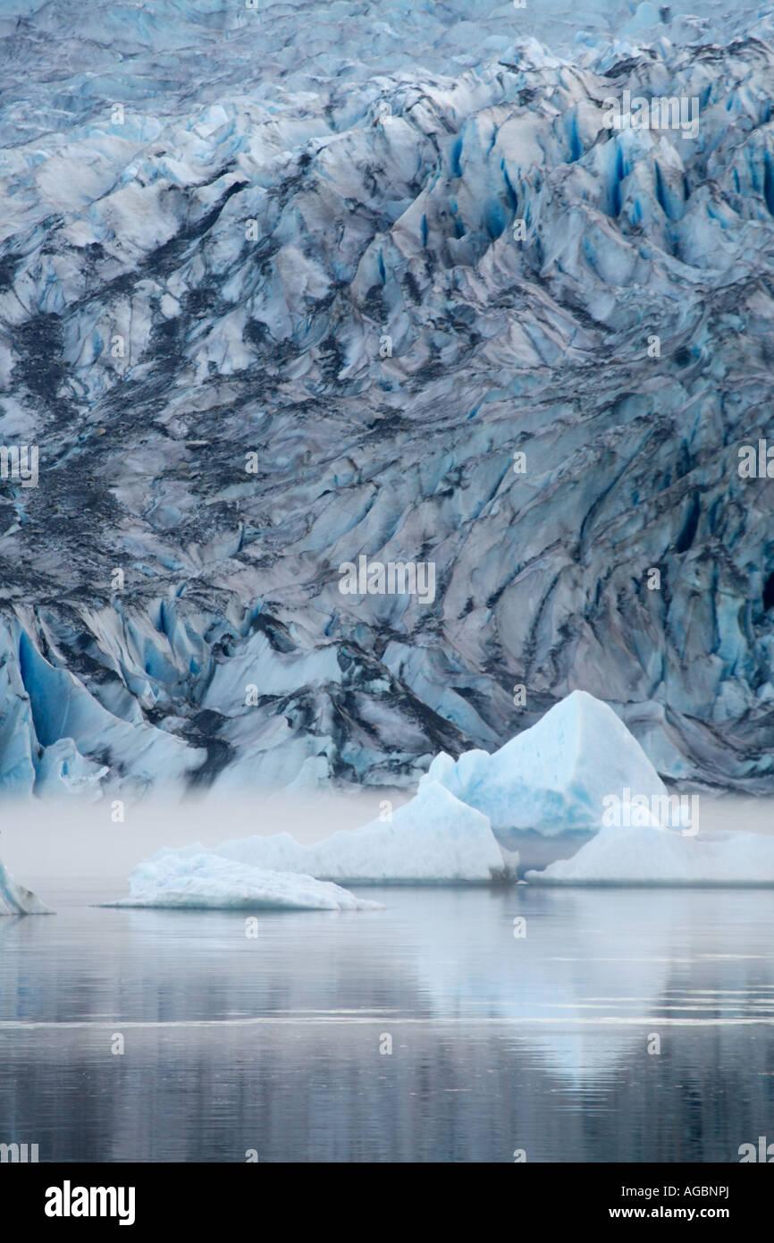 Mendenhall Glacier and Lake near Juneau Alaska - Stock Image