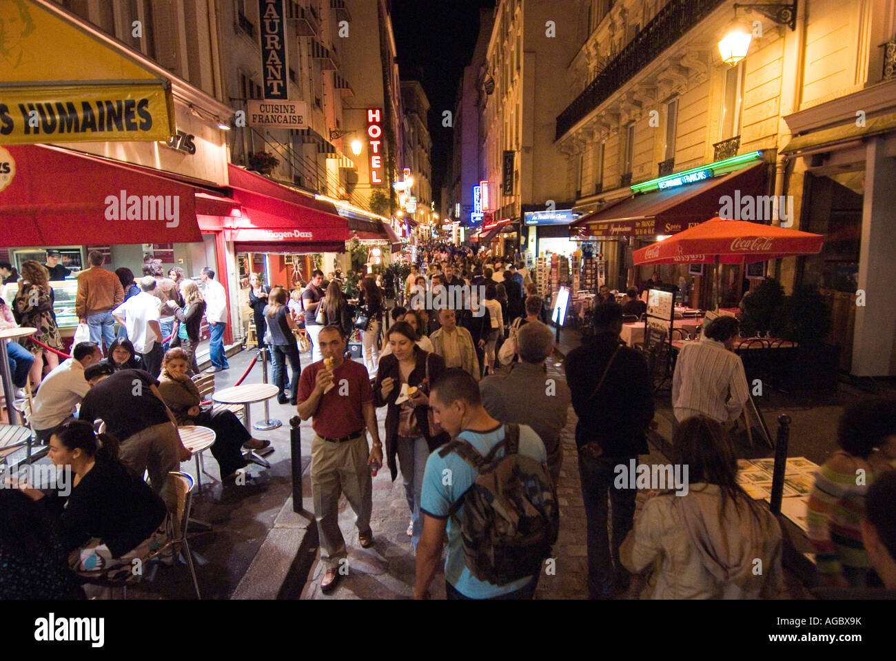 Left Bank Quartier Latin Paris - Stock Image