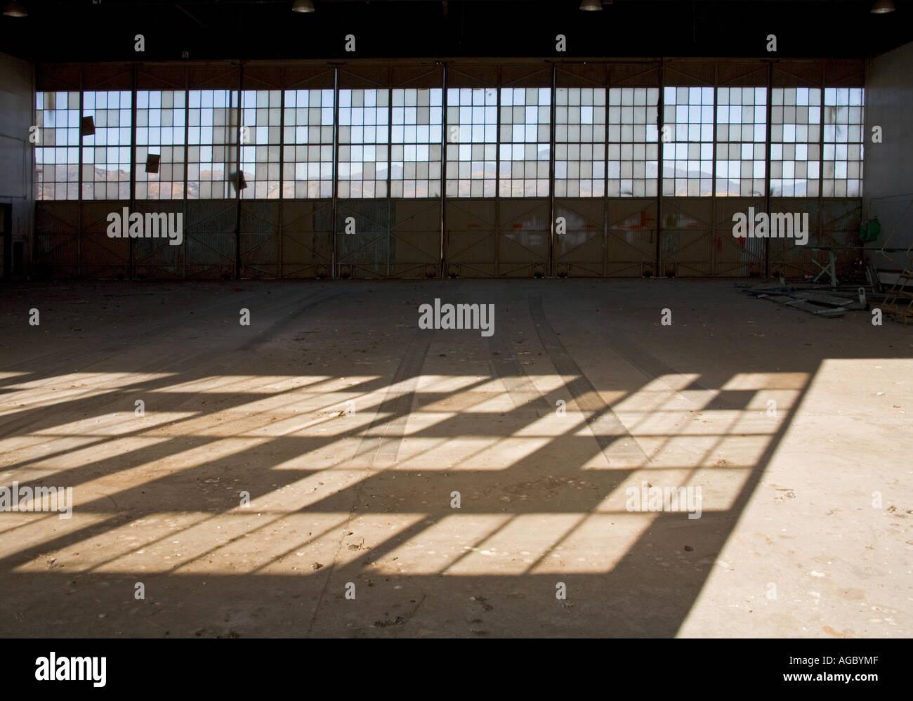 Abandoned airplane hangar El Toro Marine Corps Base Orange County California United States of America Stock Photo
