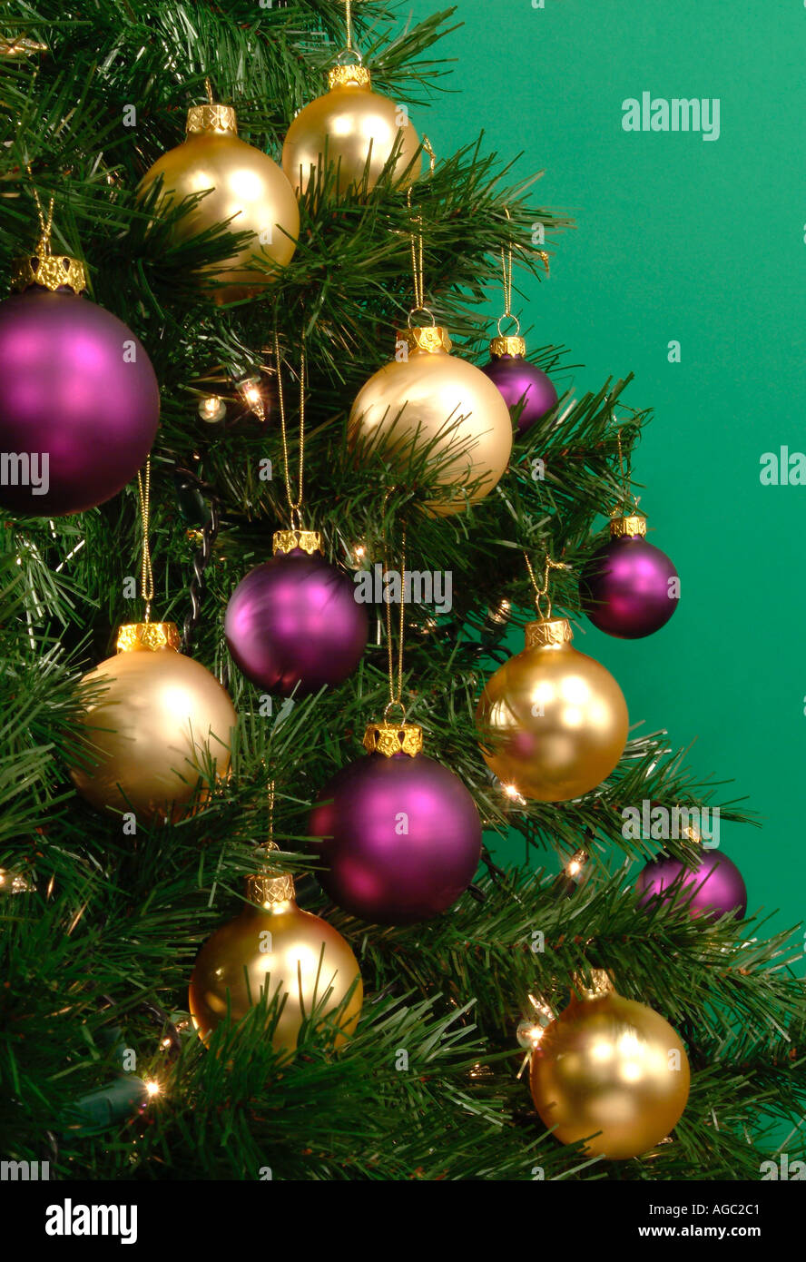 Purple And Gold Christmas Tree High Resolution Stock Photography And Images Alamy