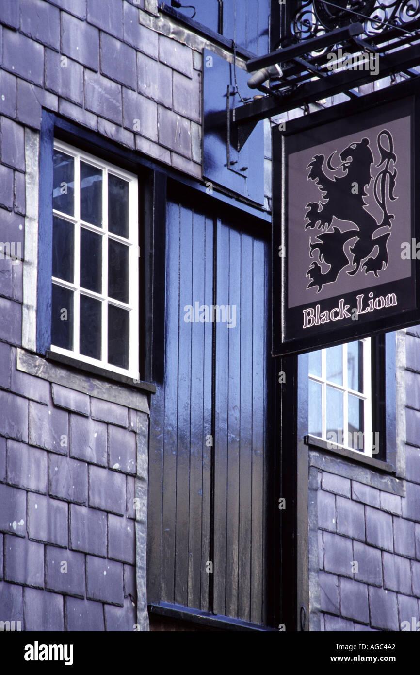 Black Lion pub in The Lanes, Brighton Sussex - Stock Image