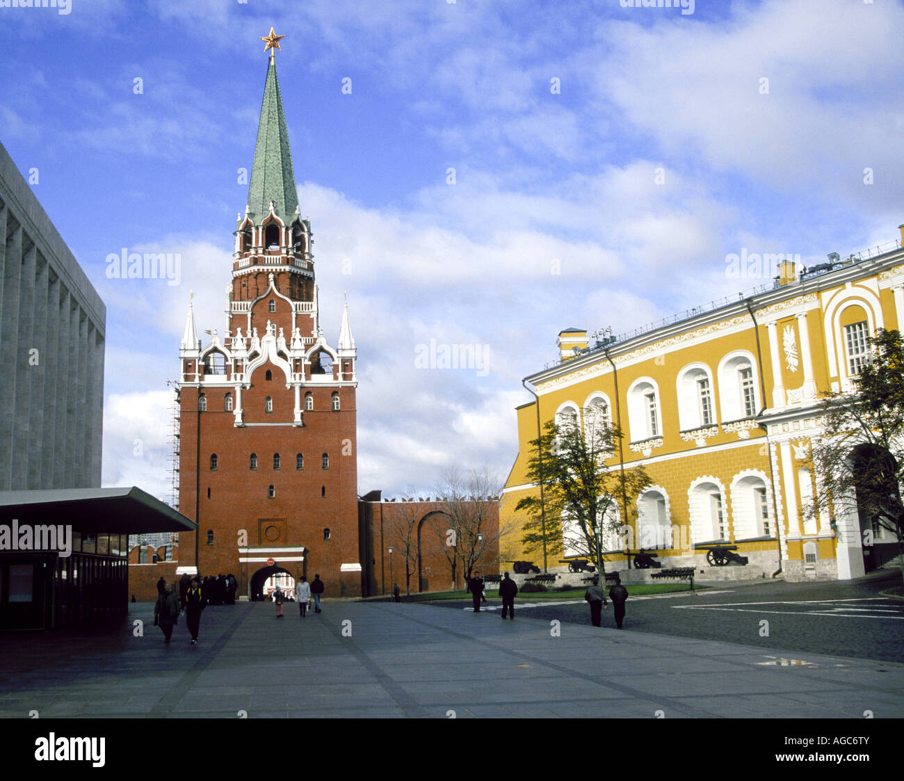 A view of one of the towers in the Kremlin on Red Square in Moscow - Stock Image
