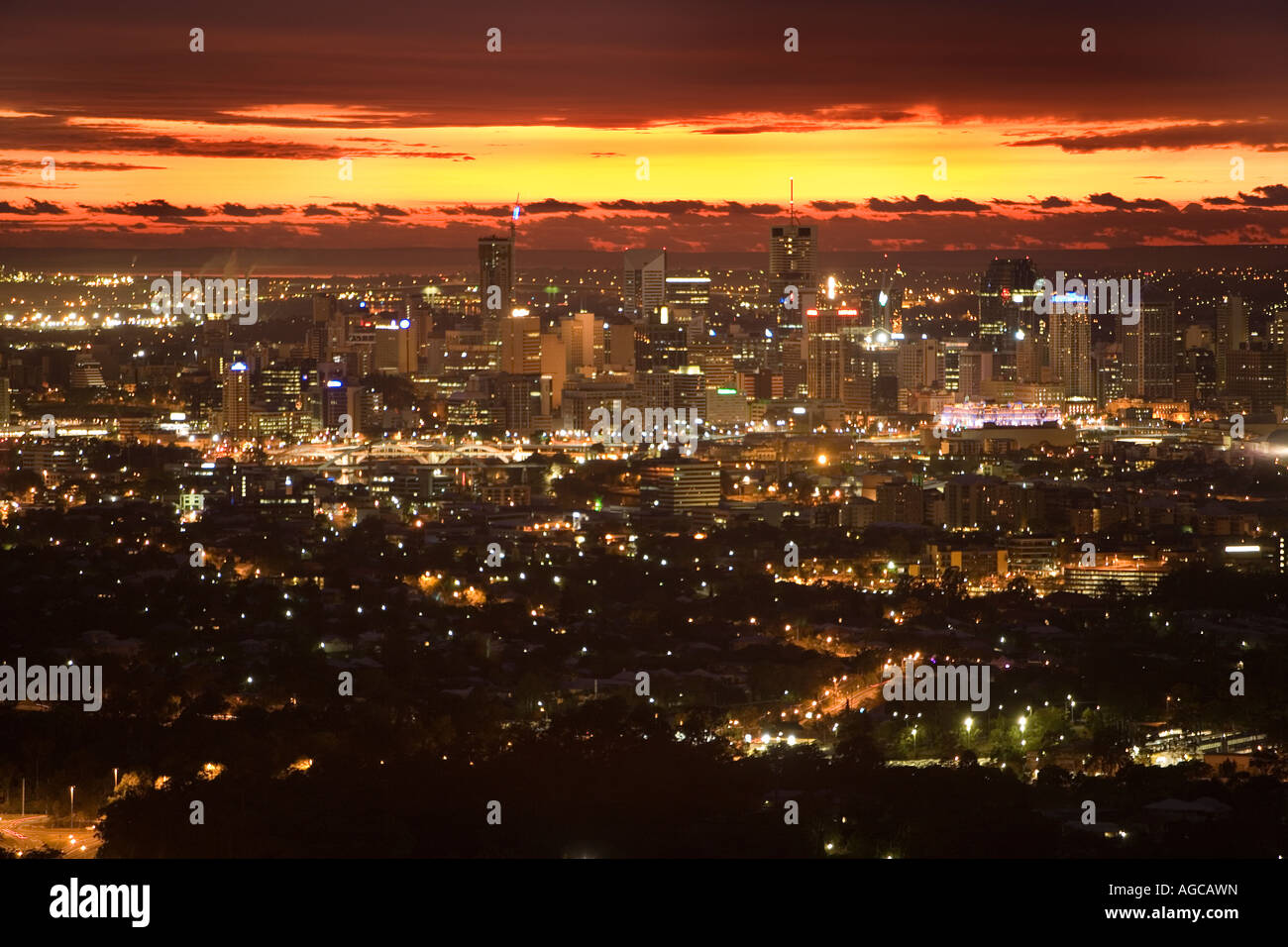 Brisbane, Australia at sunrise - Stock Image