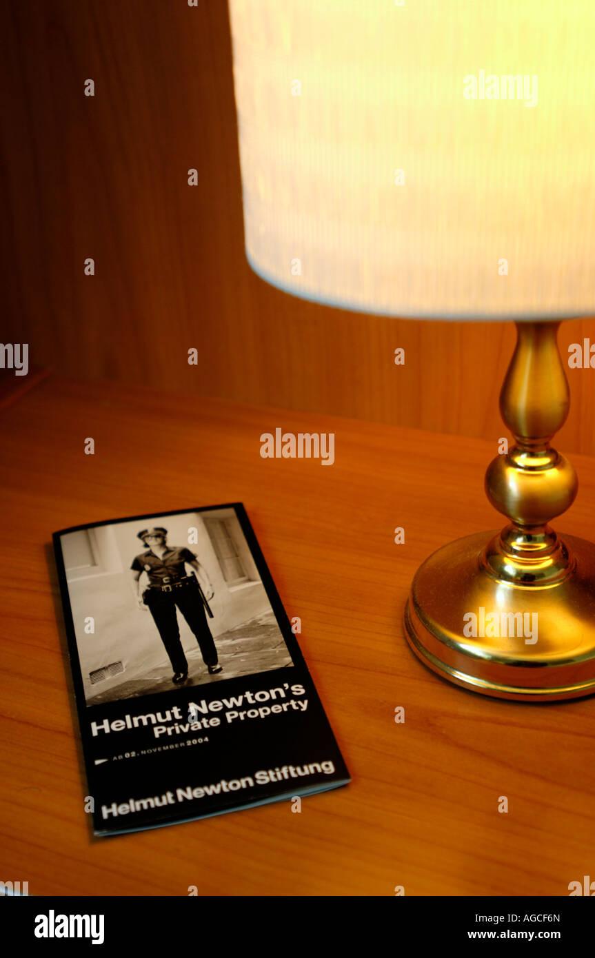 conceptual shot of a Helmut newton exhibition publicity Stock Photo