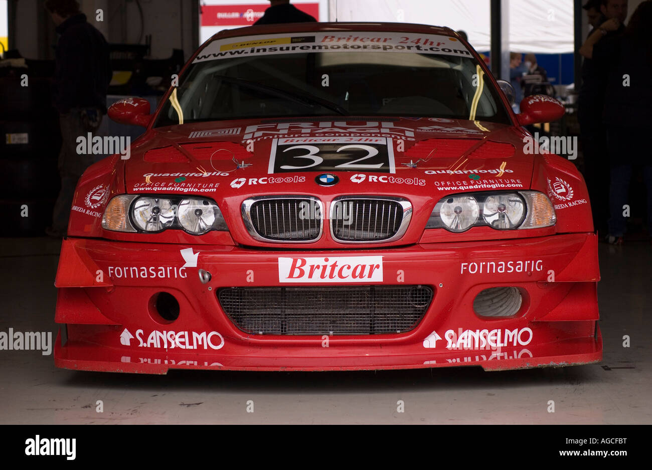 Duller Motorsports BMW M3 in the pit Garage during the Britcar 24hr ...