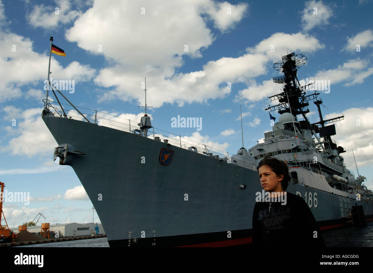 portrait young boy military ship hair long cute boat army outdoor marine  radar sky child teen teenager german army marine