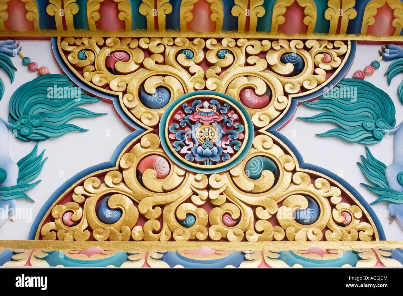 Tibetan Buddhism Old Wall Painting Stock Photos & Tibetan Buddhism ...