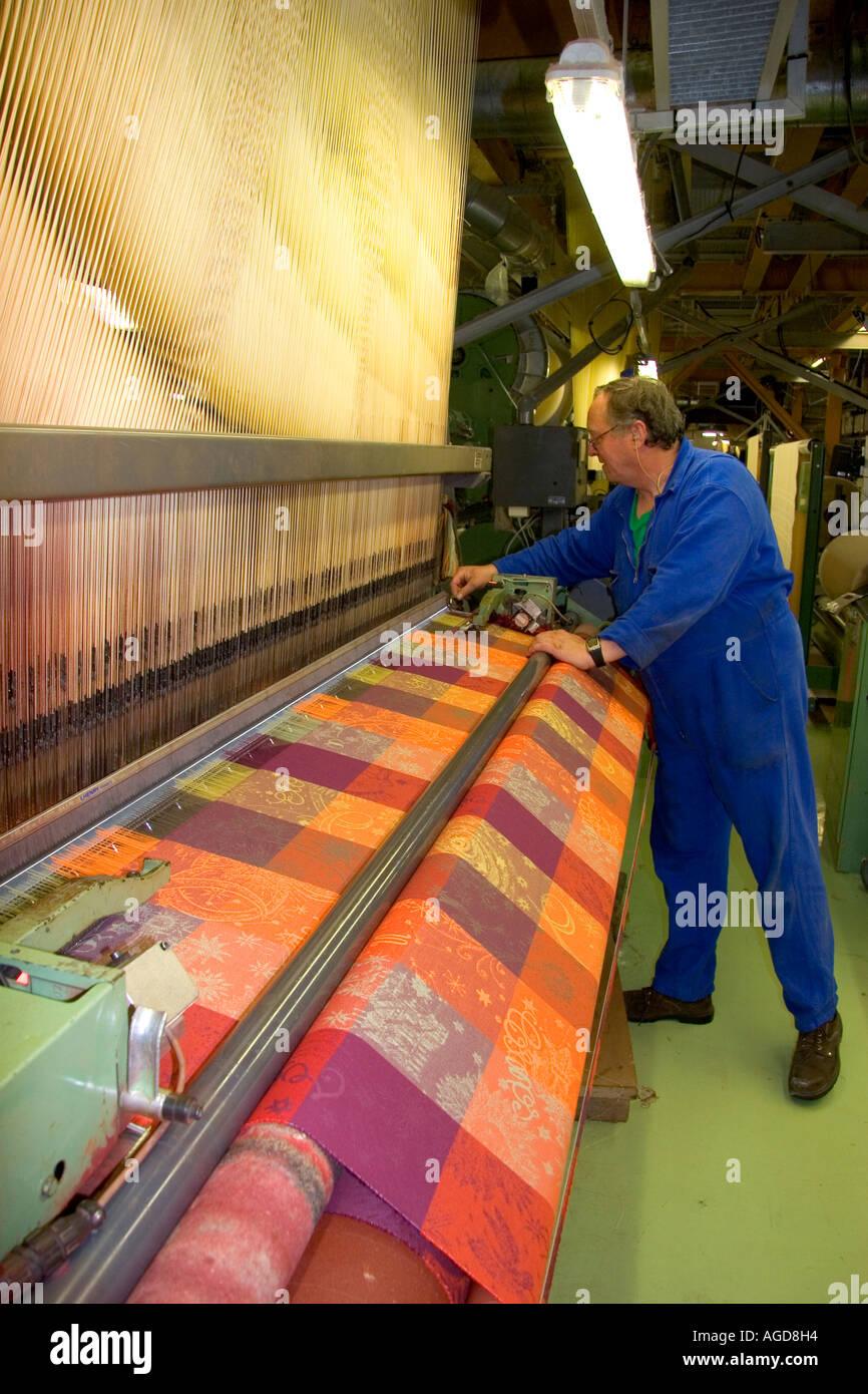 textile loom in garnier thiebaut factory stock photos. Black Bedroom Furniture Sets. Home Design Ideas