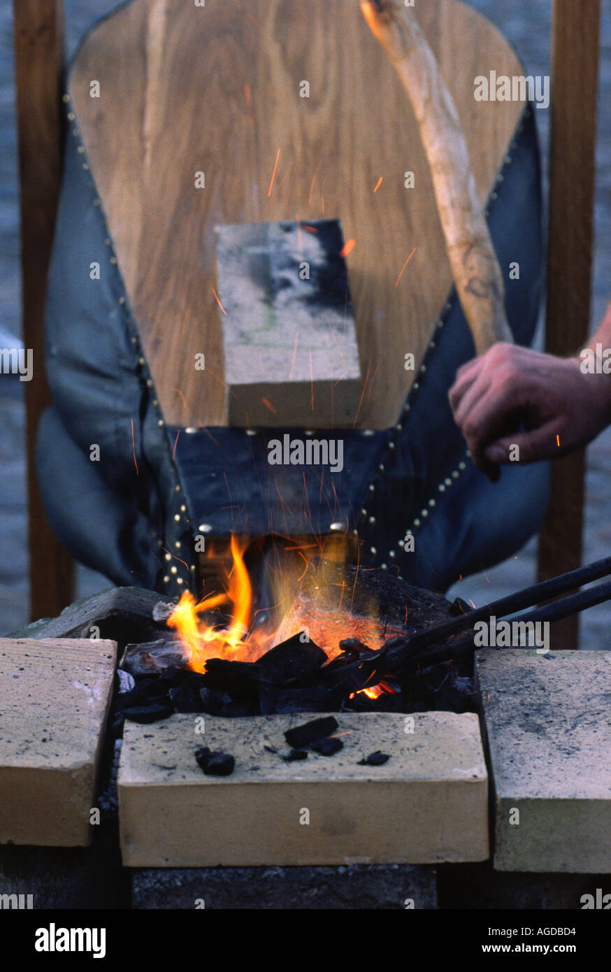 A forge and bellow - Stock Image