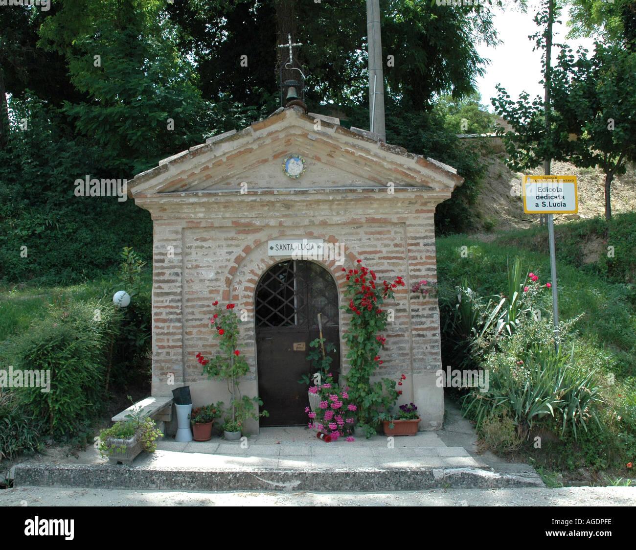 Roadside Catholic Shrine near Positano Italy Stock Photo