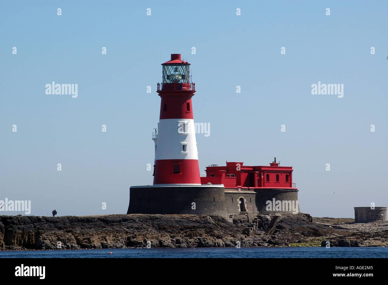 Longstone lighthouse, Farne Islands. Stock Photo