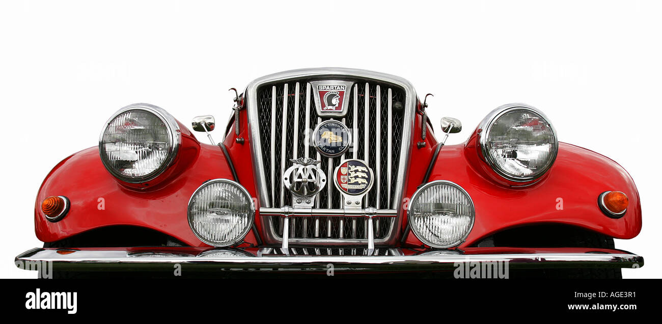 MG Spartan red classic car old history vehicle vintage antipodes ...