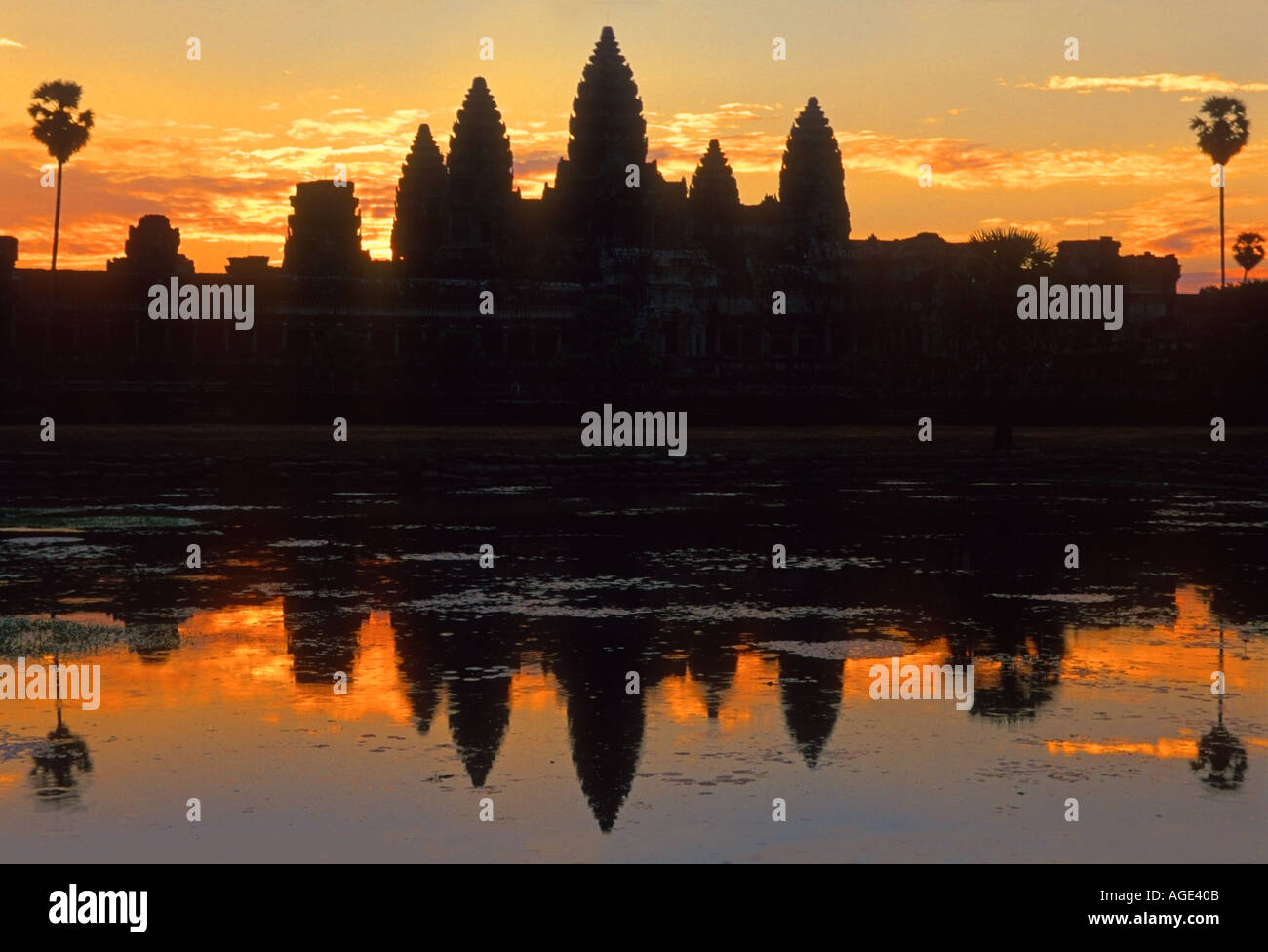 Angkor Wat at Dawn - Stock Image