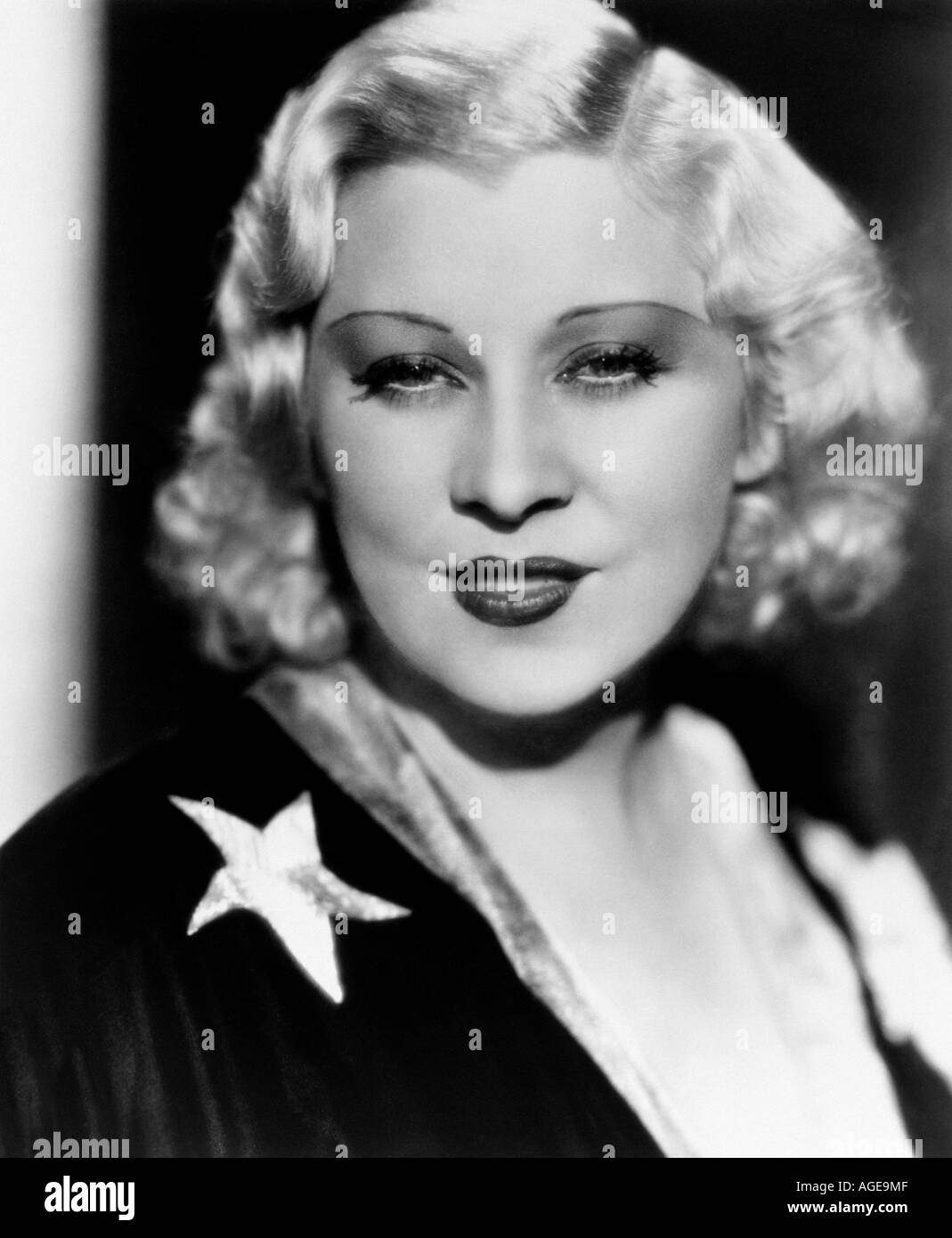 MAE WEST US actress - Stock Image