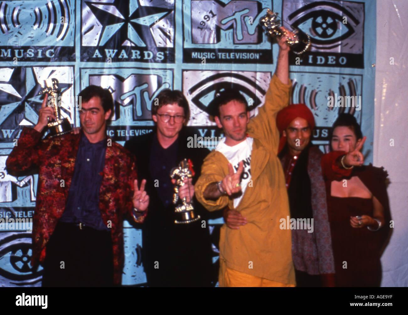 REM US band at the 19991 MTV Music Awards - Stock Image