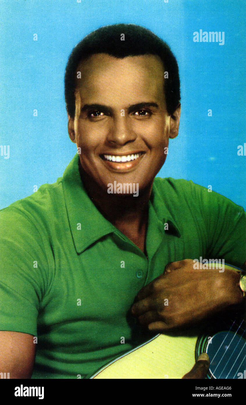 HARRY BELAFONTE American singer and actor about 1955 - Stock Image