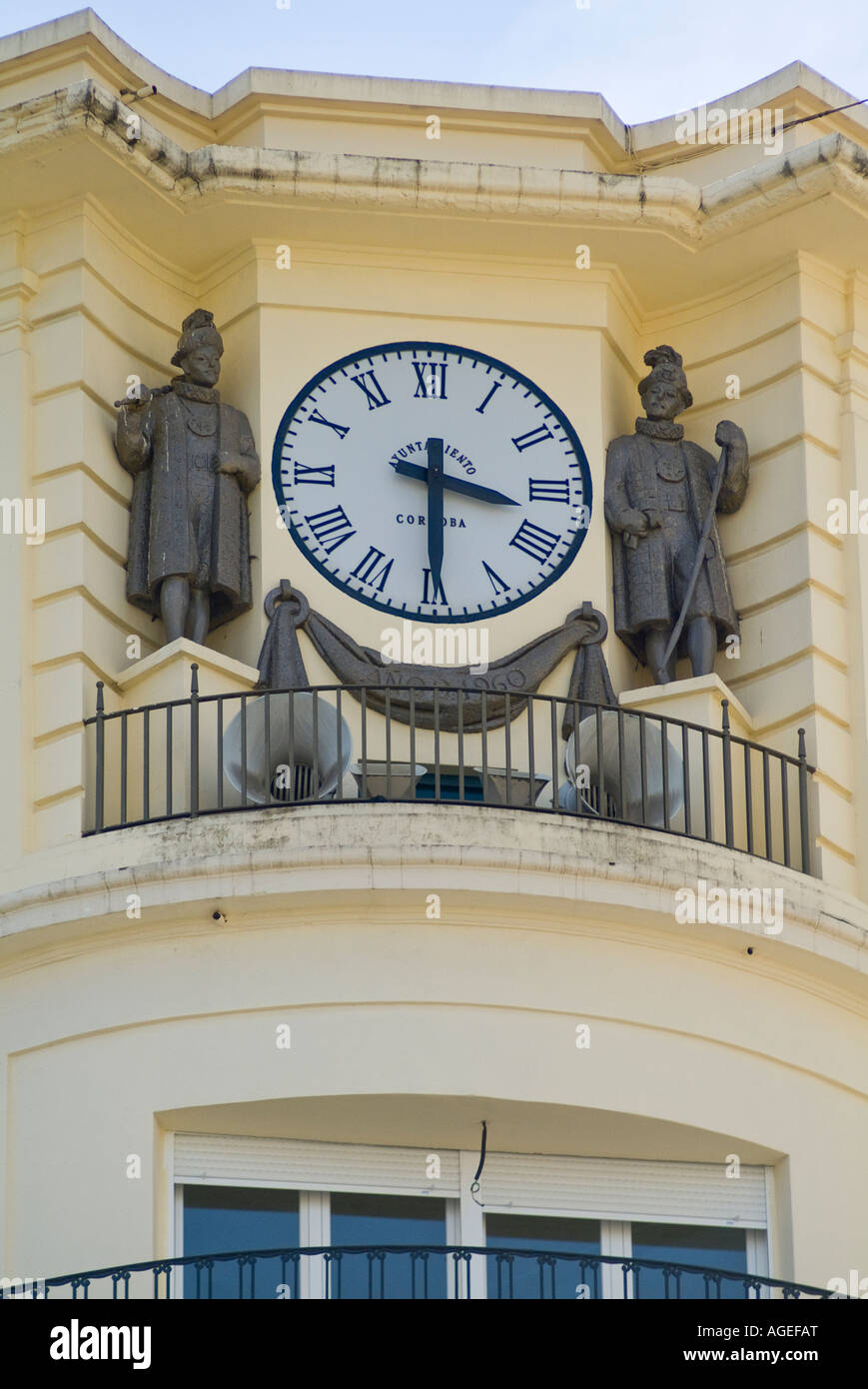 clock on the counsel of cordoba - Stock Image