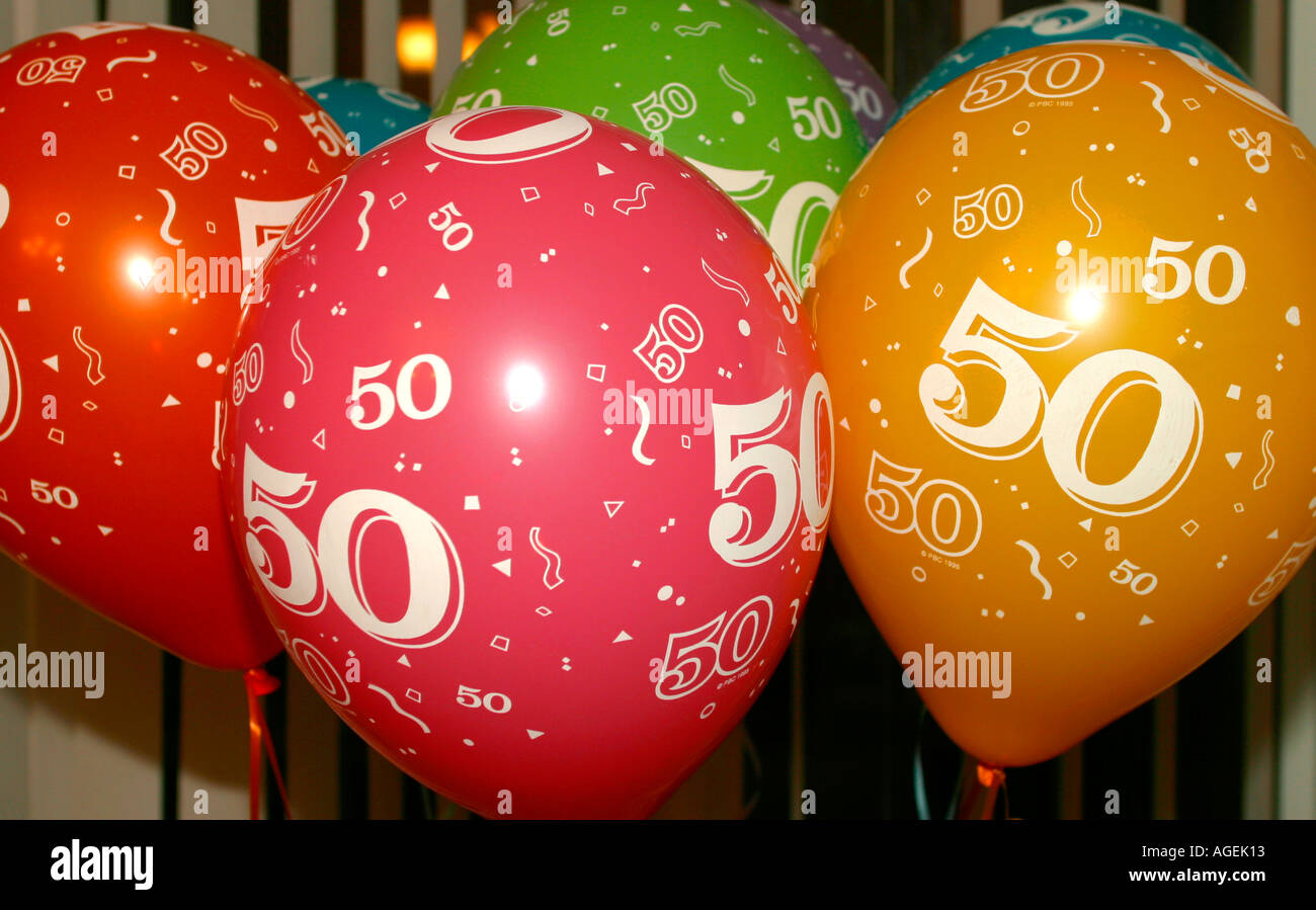 50th Birthday Party Celebration Balloons