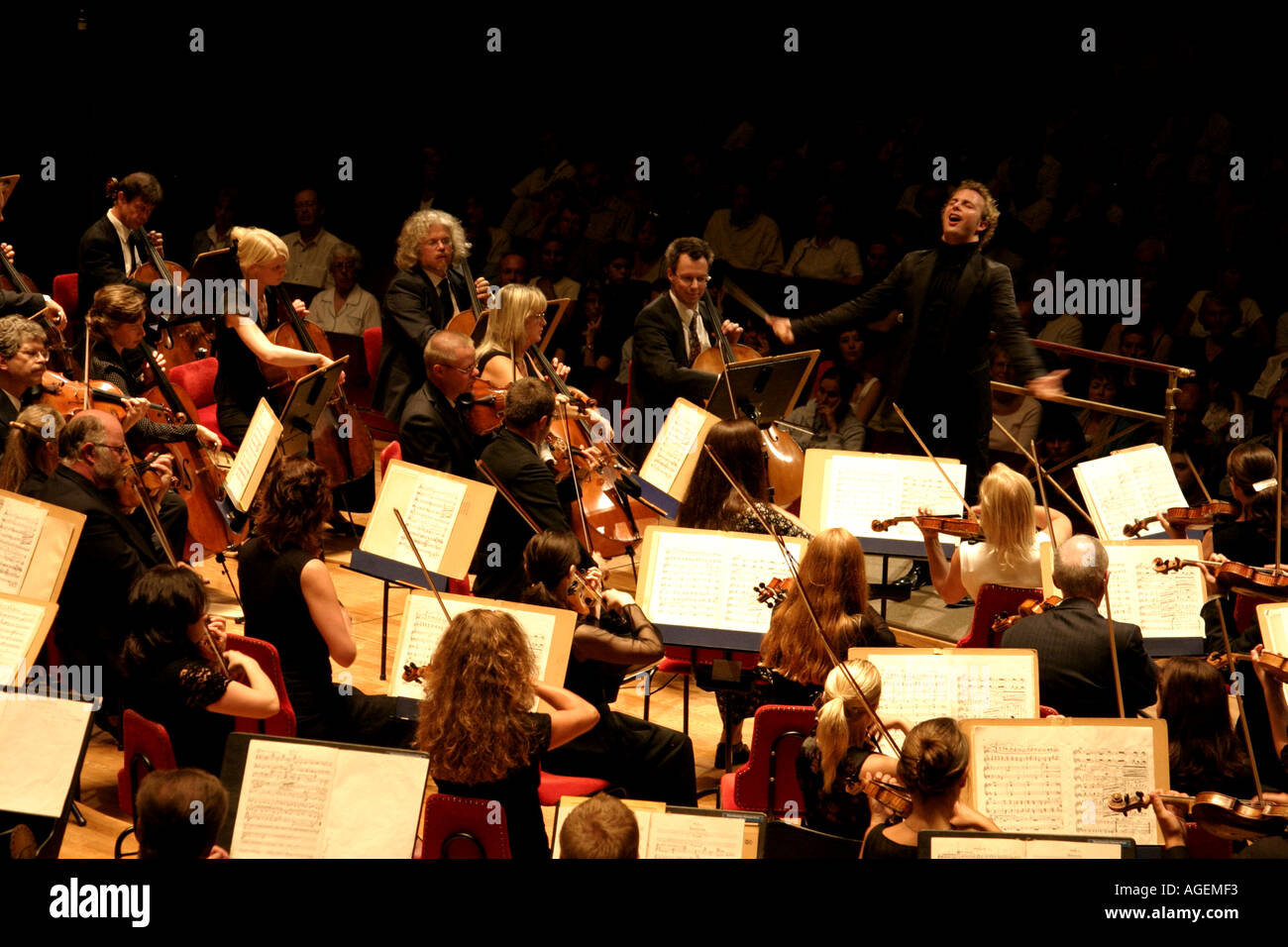 Stockholm Philharmonic orchestra in performance conductors