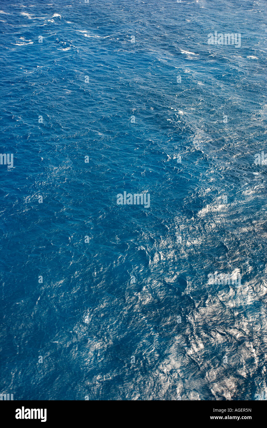 Blue rippled water of Pacific ocean - Stock Image