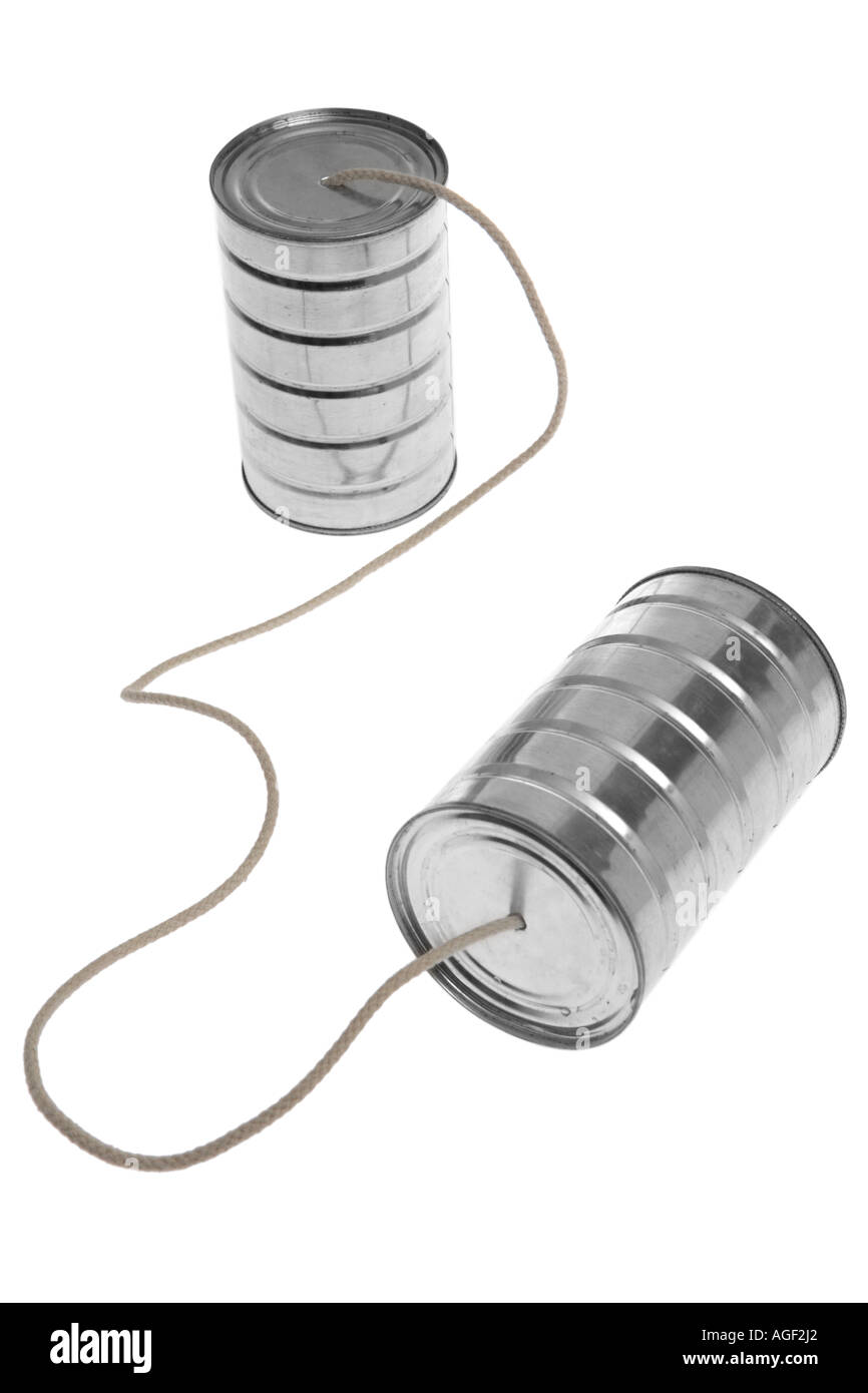Cans and String - Stock Image