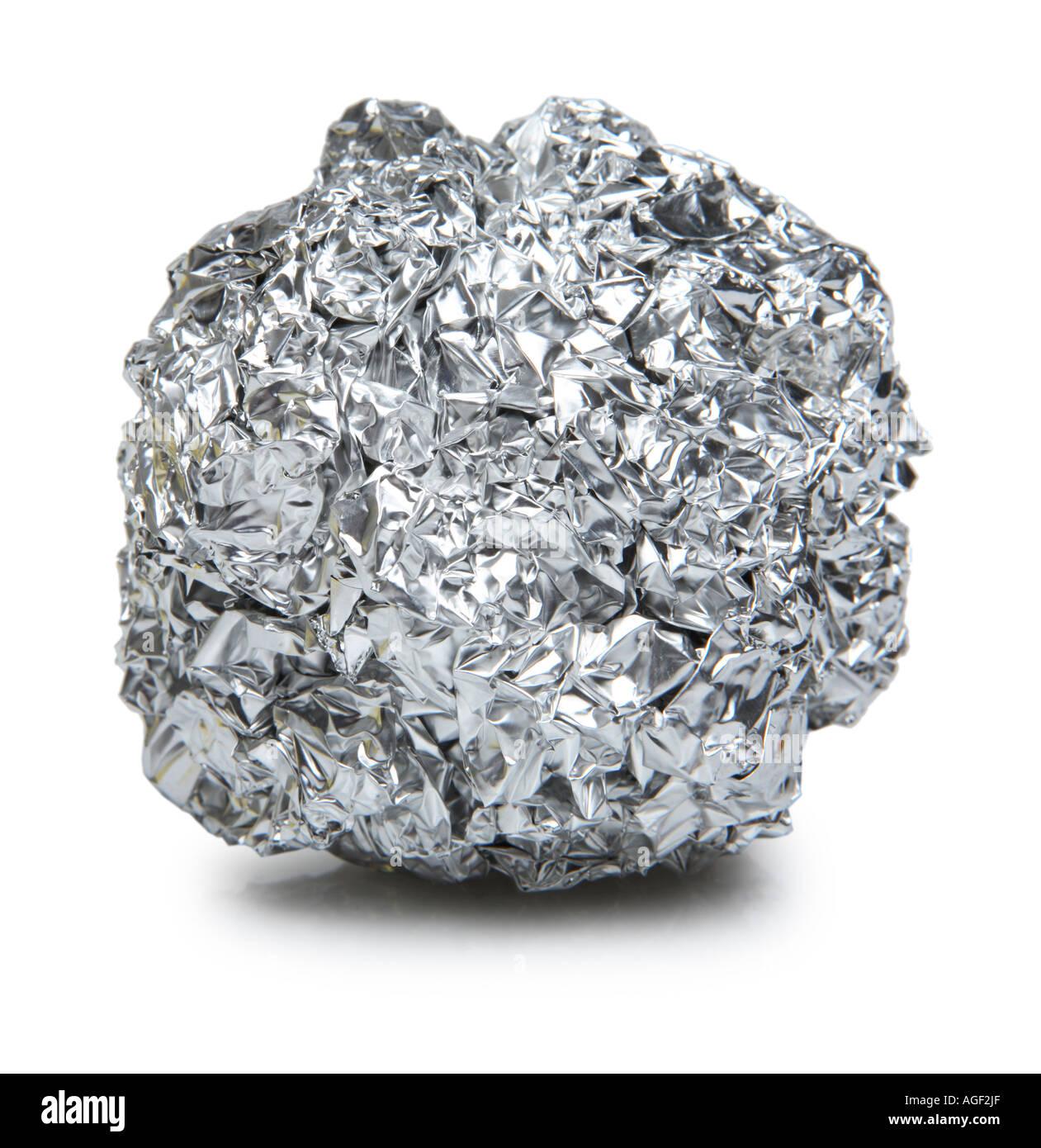 Tin Foil Ball - Stock Image