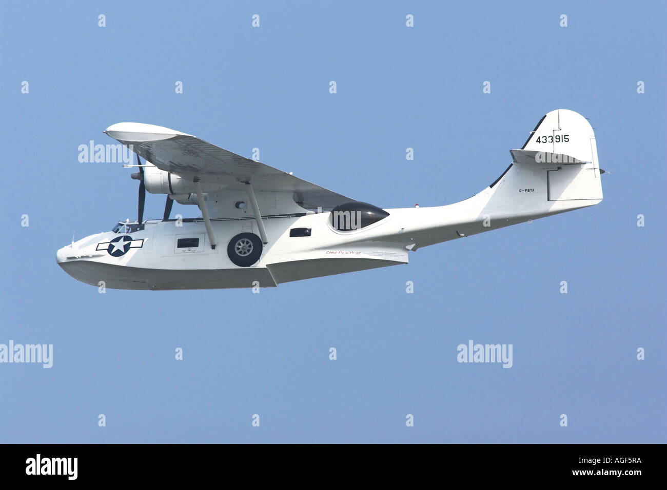 Consolidated PBY Catalina WW2 US Navy amphibious flying boat - Stock Image