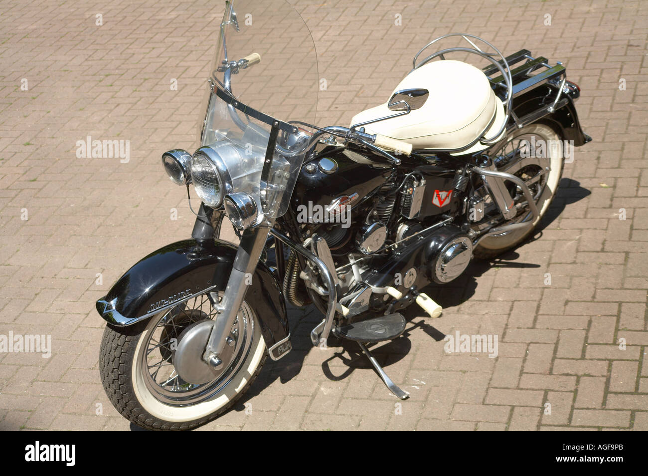an imaculate 1960 Harley Davidson Duo Glide - Stock Image