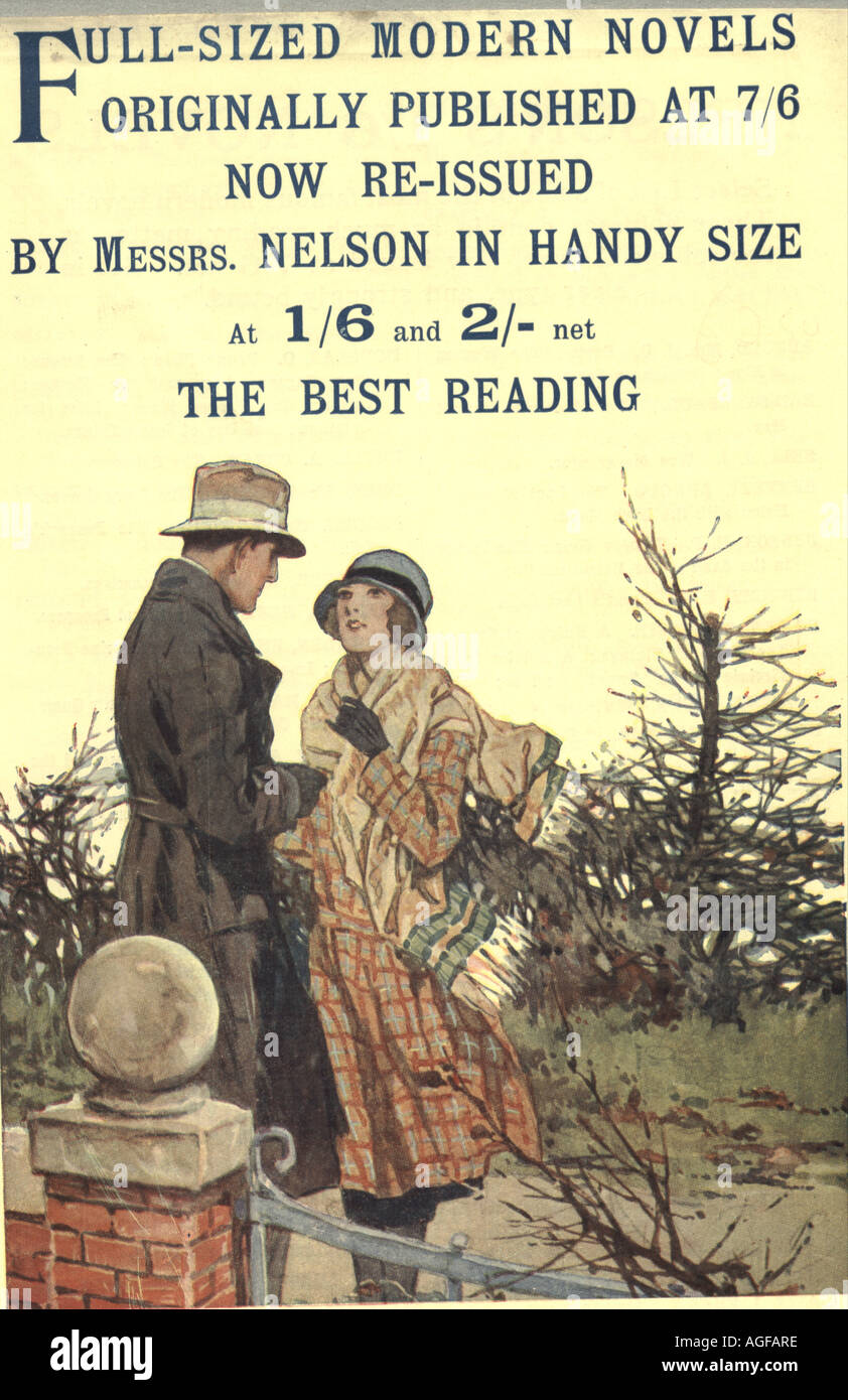 Advertisement for novels published by Nelson 1934 - Stock Image