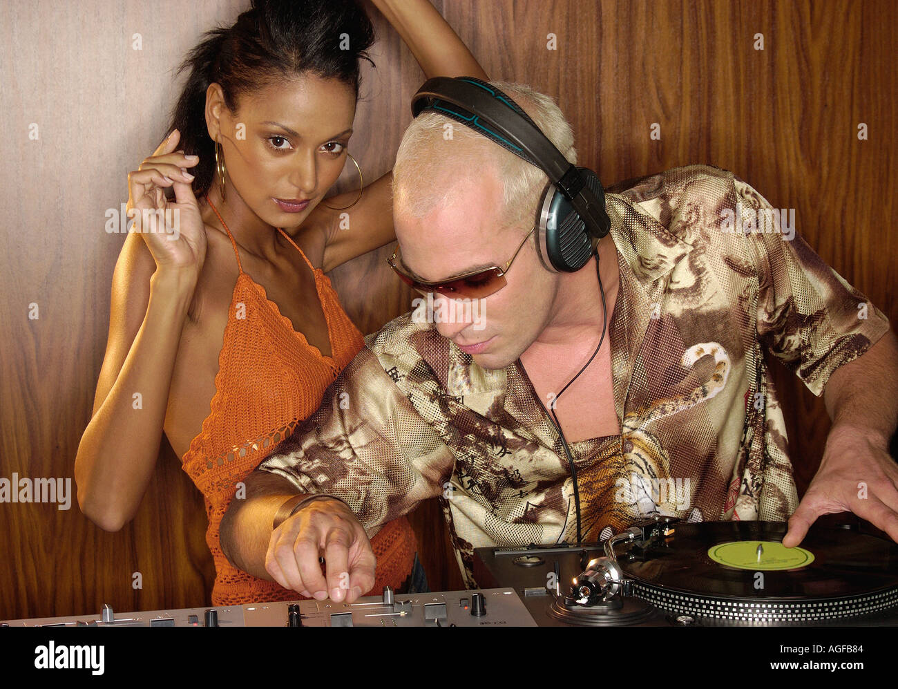 Disc jockey - Stock Image