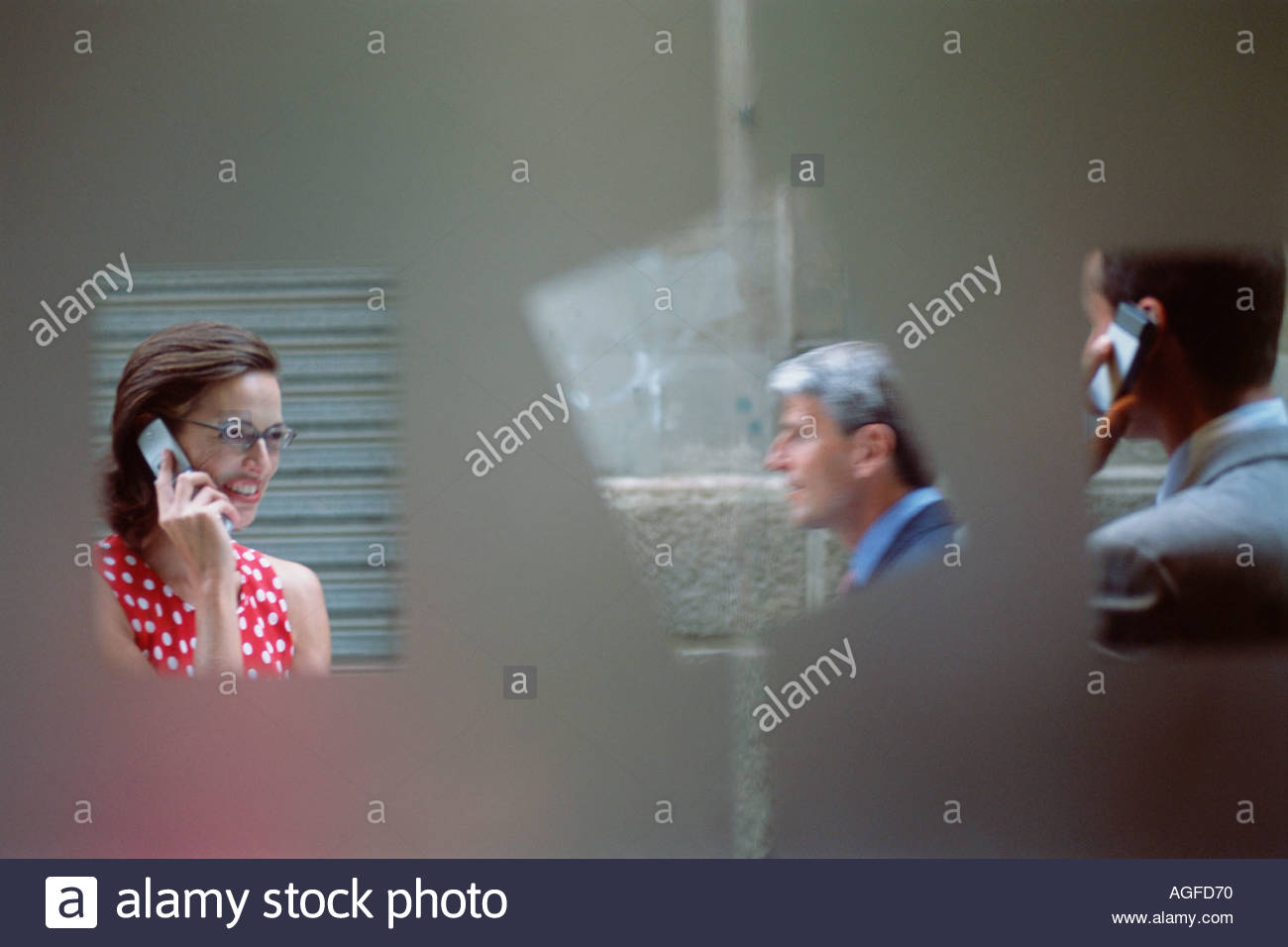 Behind closed doors - Stock Image