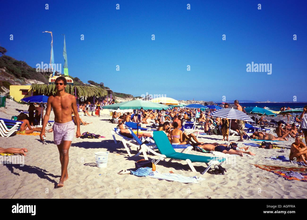 Ibiza Sa Trinchas beach - Stock Image