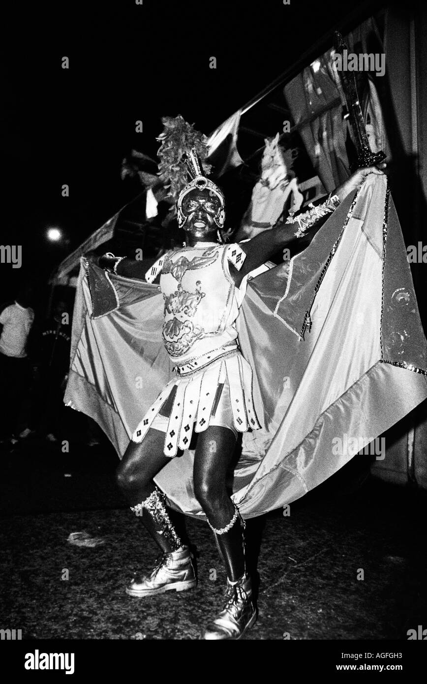 Man in gladiator outfit at Notting Hill Carnival London - Stock Image
