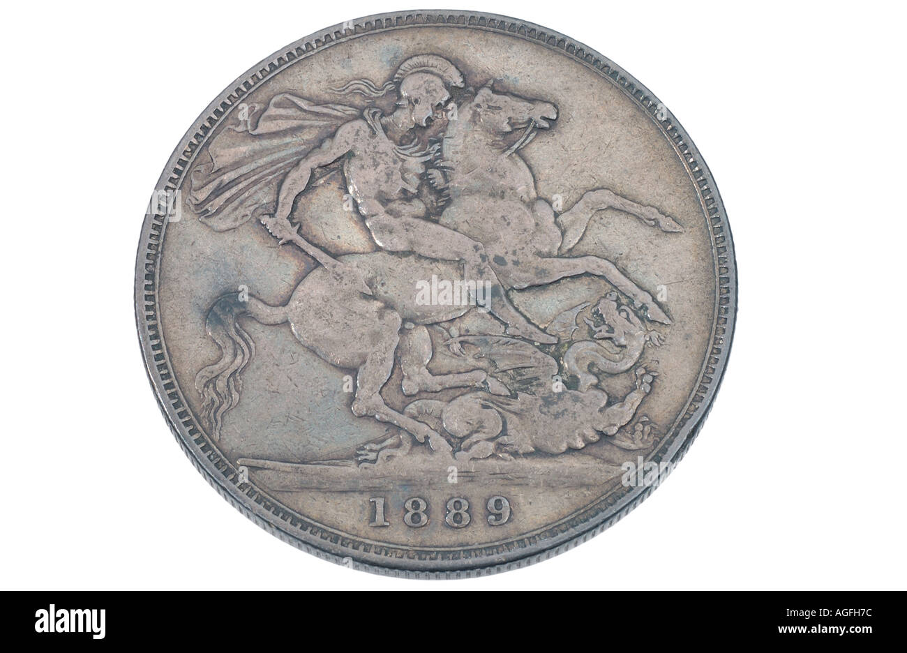 United Kingdom Victorian crown coin - Stock Image