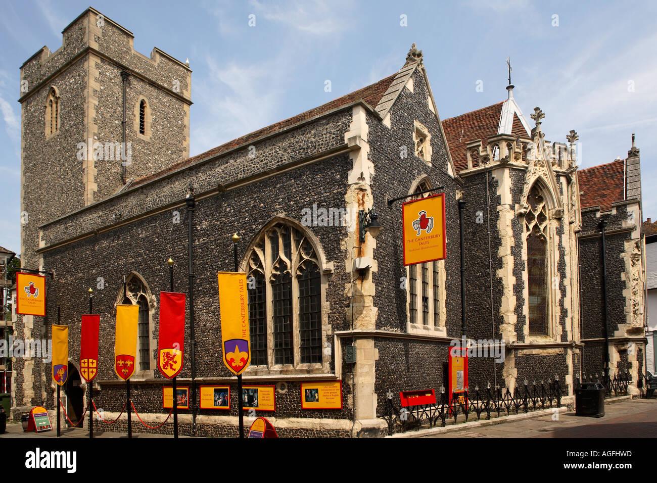 England. Canterbury. 'Canterbury tales' exhibition in church - Stock Image