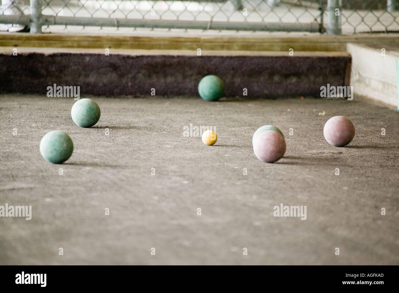 Bocce tournament Rome New York - Stock Image