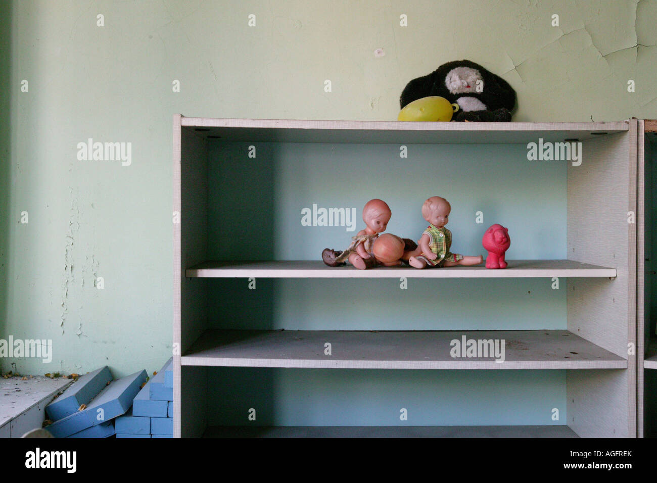 Abandoned school nursery Prypiat Chernobyl exclusion zone - Stock Image