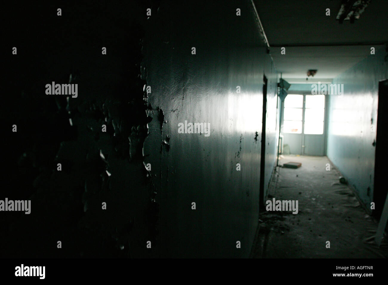 abandoned apartment in chernobyl fallout zone in town of prypiat - Stock Image