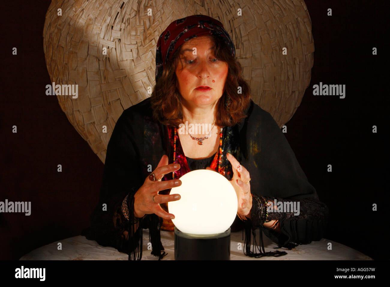 Woman Fortune Teller - Stock Image