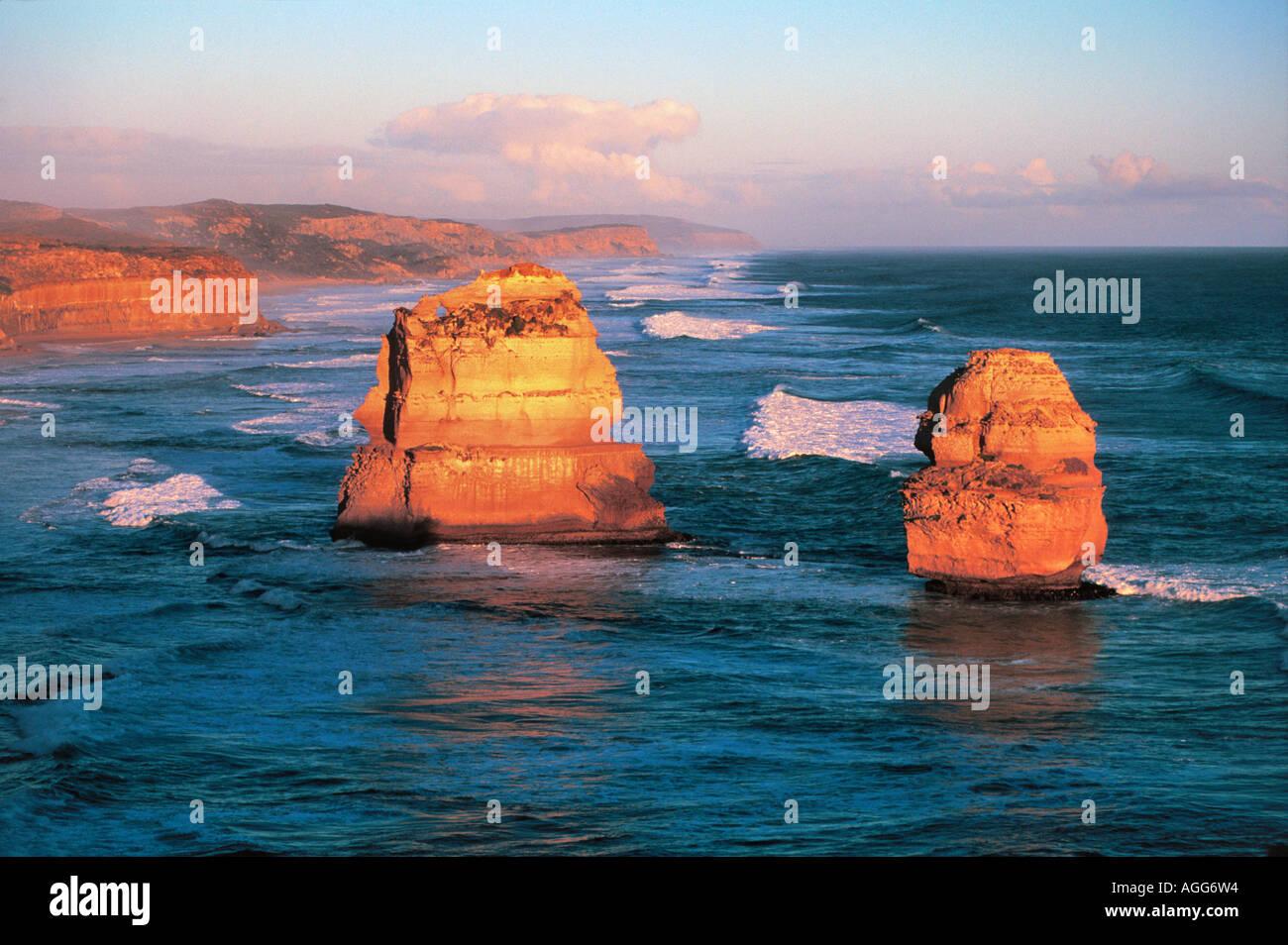The Twelve Apostles, Port Campbell National park, Victoria, Australia Stock Photo