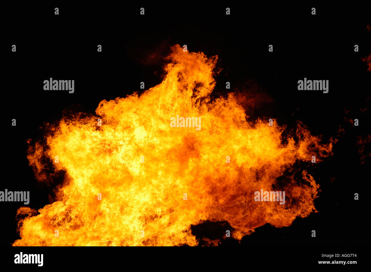 flame of blazing fire - Stock Image
