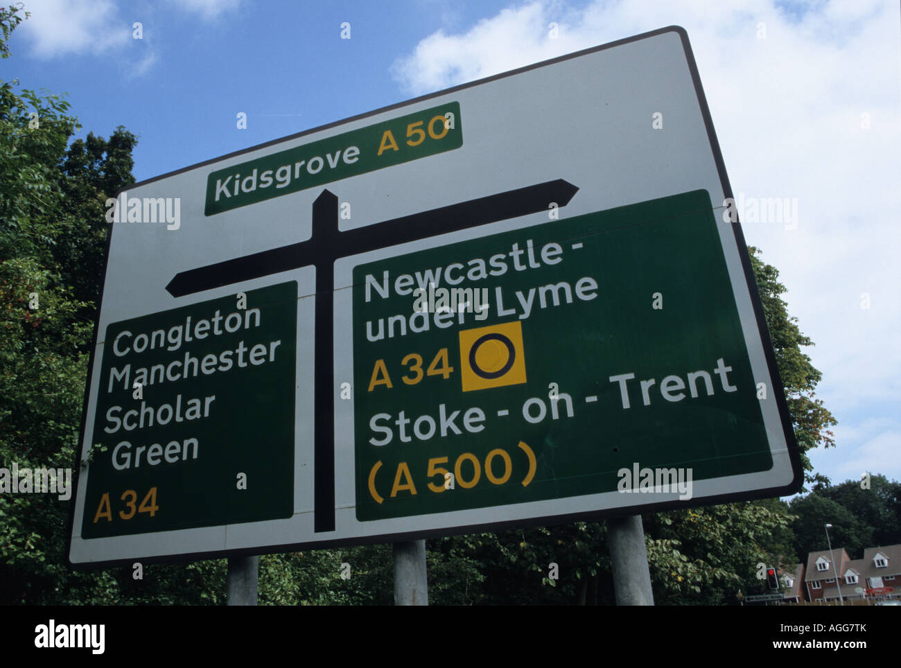 A50 Road Sign Stock Photo - Alamy