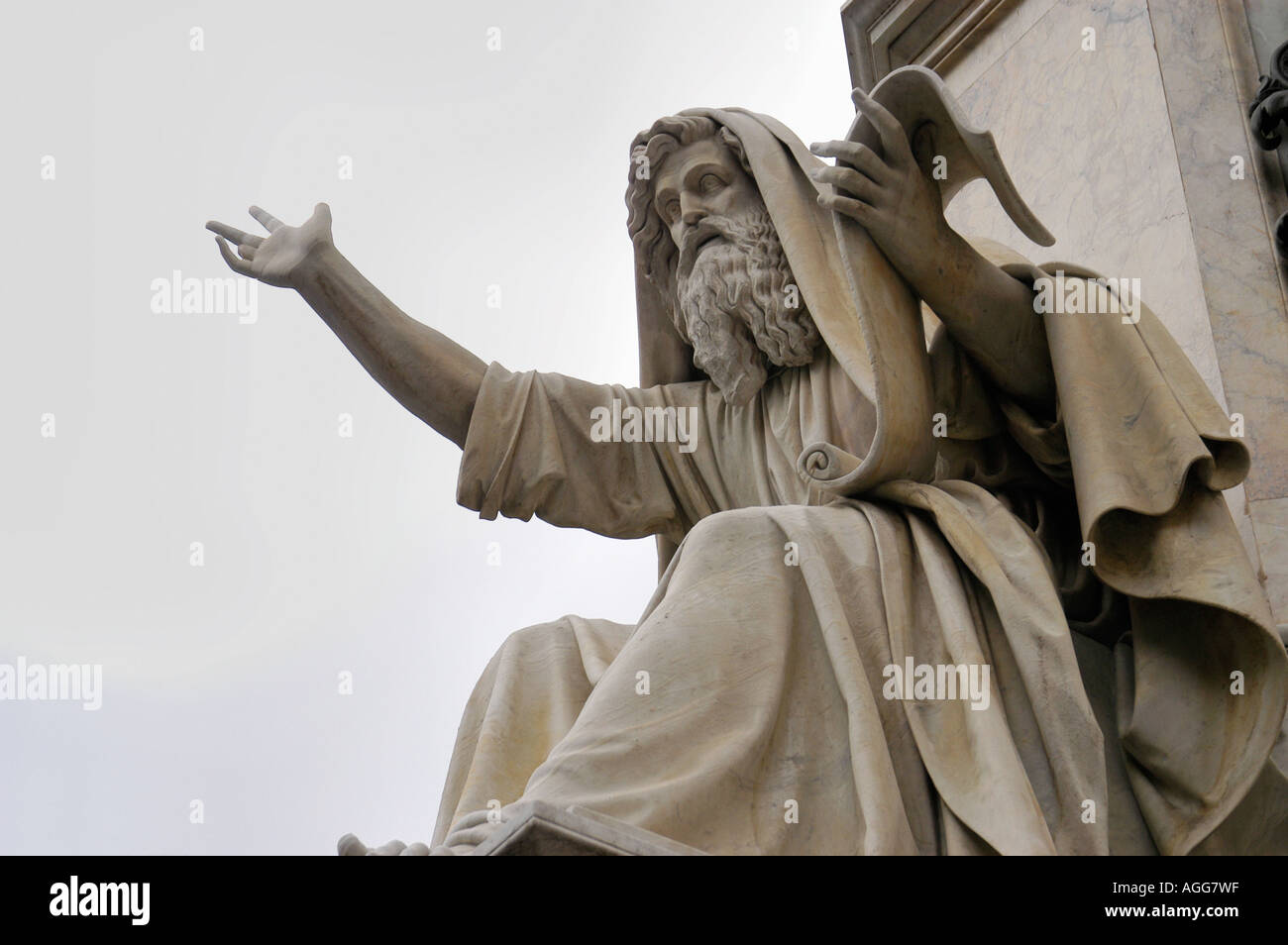 statue of Moses an the ten commandments, Rome, Italy - Stock Image